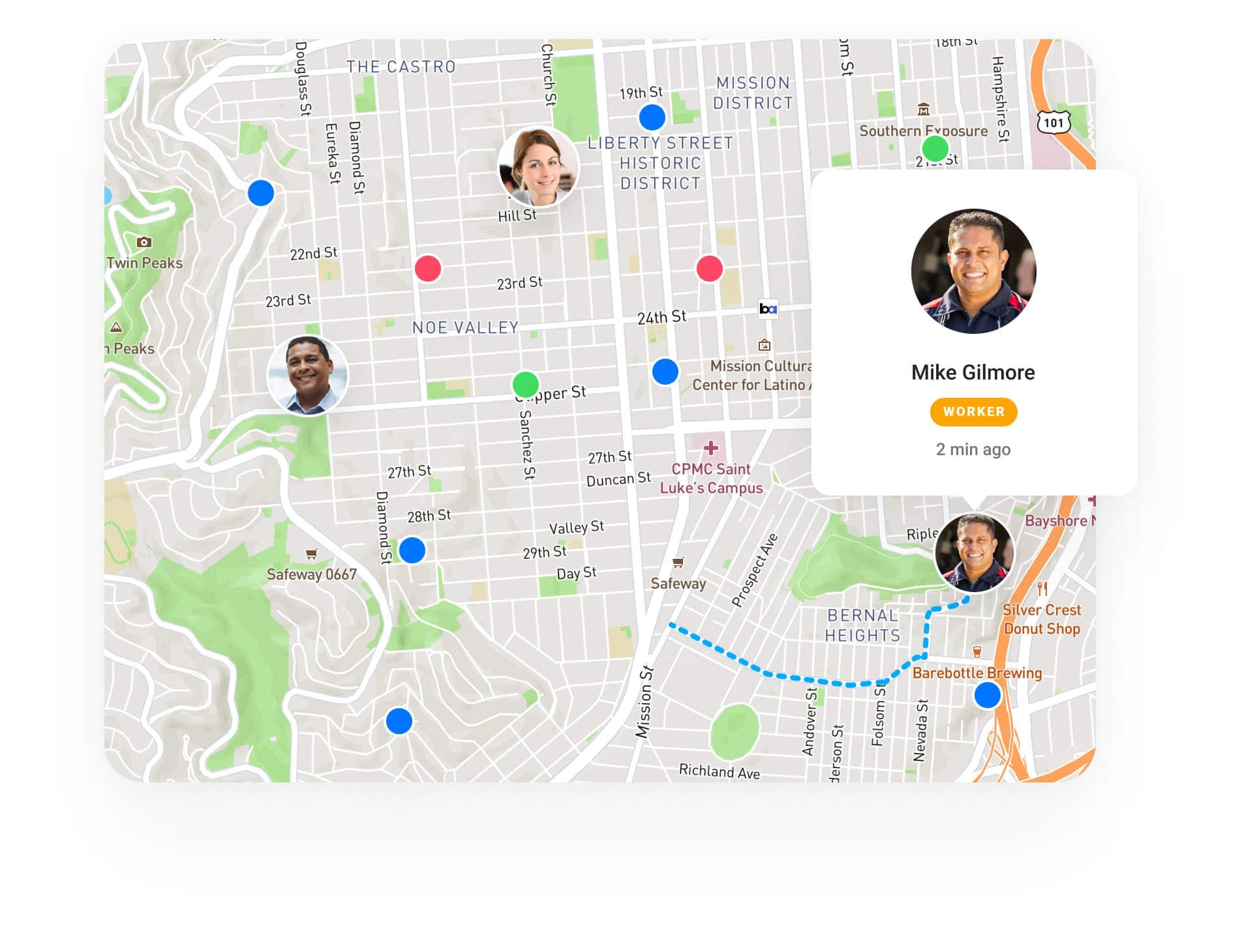 Track your team and fleet movements